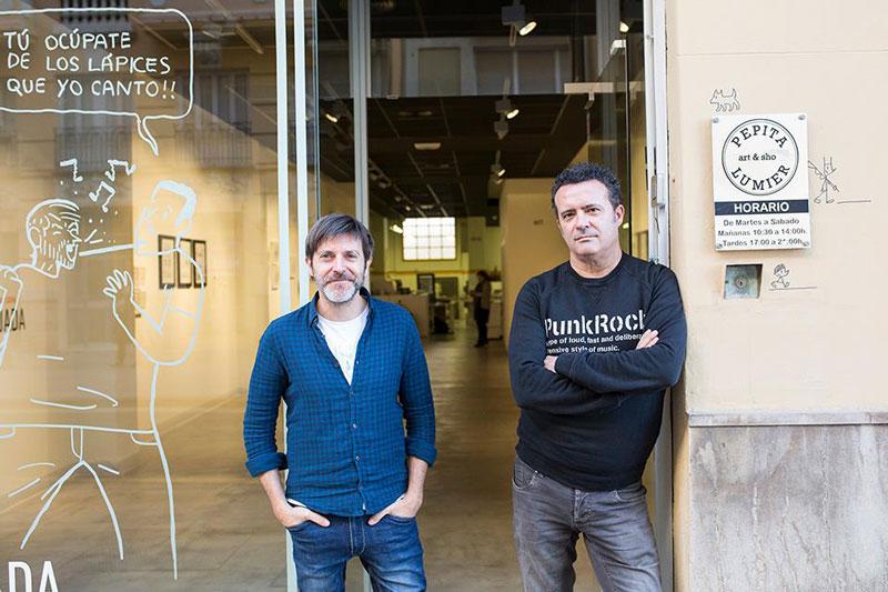 Paco Roca y José Manuel Casañ. Pepita Lumiere. Fotografía: Nacho López Ortiz