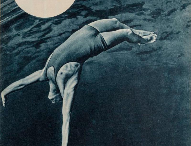 """Fotografía de la revista """"URSS en construcción"""", 1935. """"La perspectiva de Ródchenko"""". IVAM"""