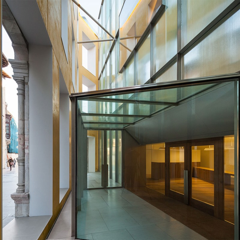 Ampliación del Museo de Bellas Artes, Oviedo. Arquitecto Francisco Mangado. © Fotografía INDELAC, S.L.