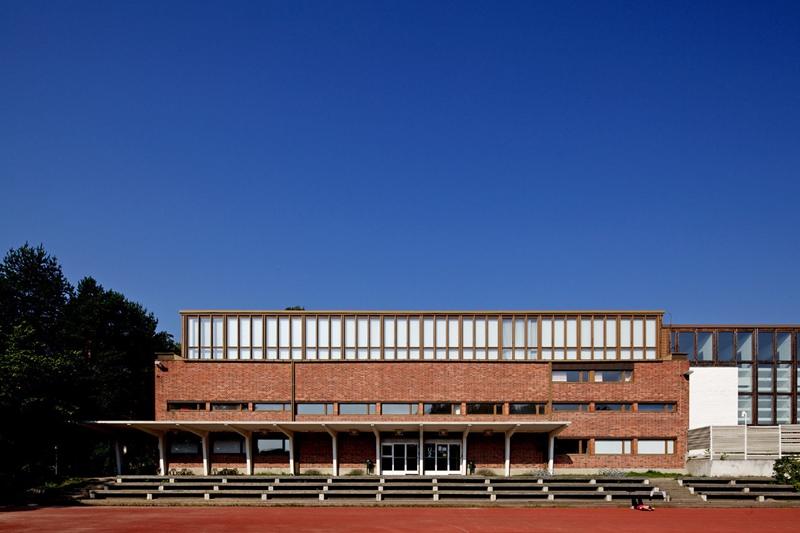 Universidad Jyväskylä, arquitecto Alvar Aalto. © Fotografía Nico Saieh.