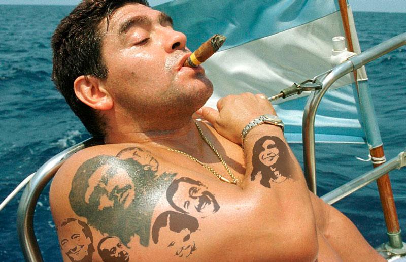 Diego Armando Maradona. Tatuajes