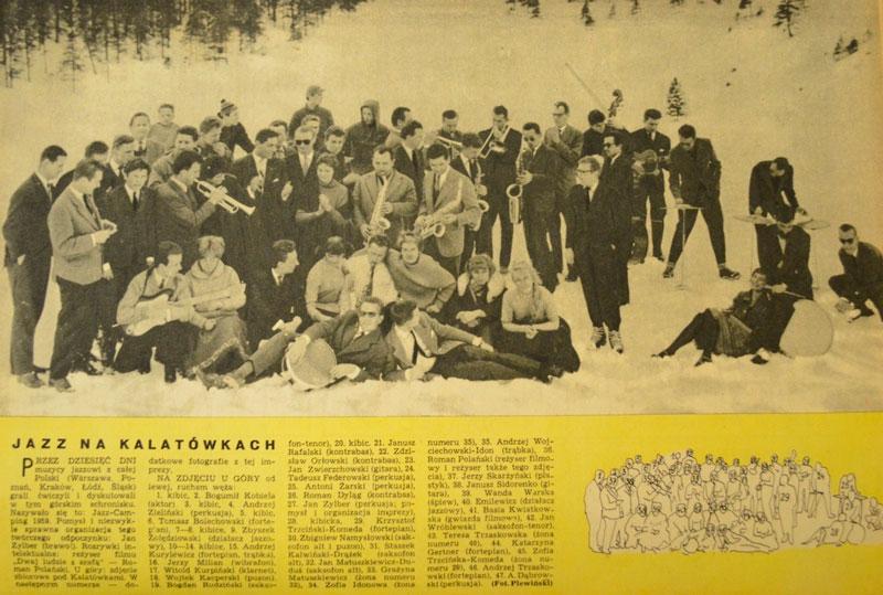 Polanski, Barbara Kwiatkowska-Lass, Komeda. Jazz Camping Kalatówki 1959. Foto: Wojciech Plewiński.