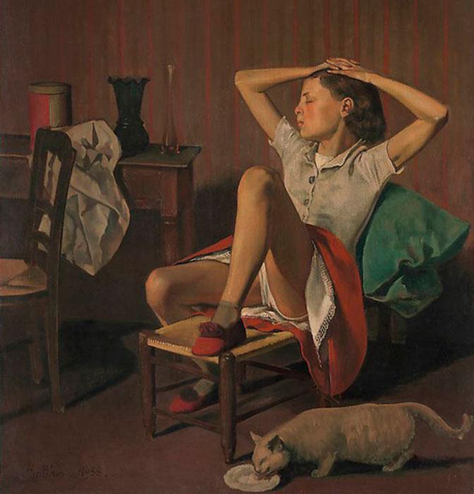 """""""Teresa soñando"""", Balthus en el MET de Nueva York."""