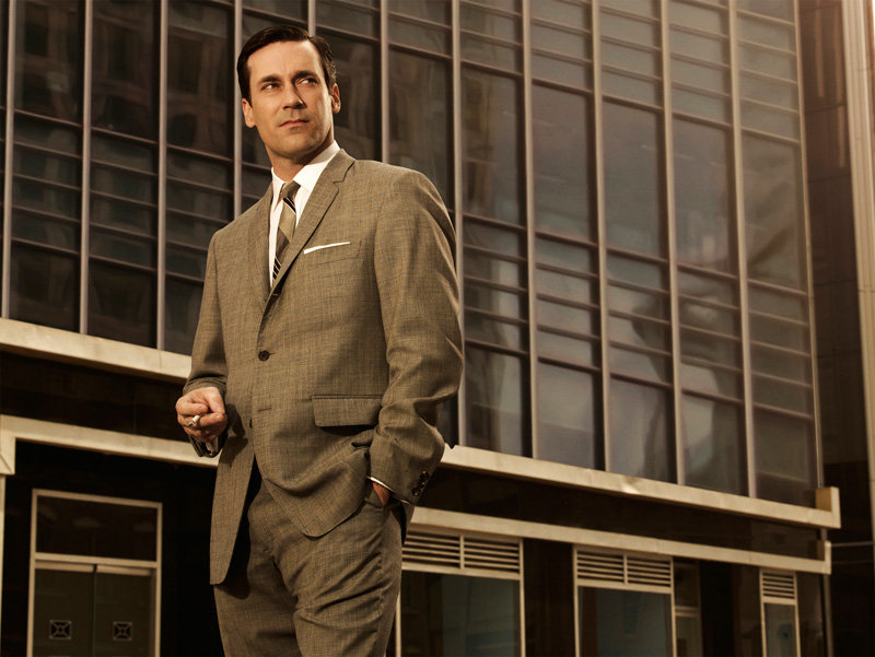 Don Draper (Jon Hamm), serie Mad Men.