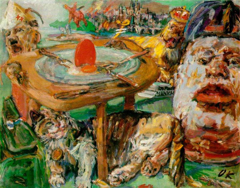 Oskar Kokoschka, 'El huevo rojo', 1941.
