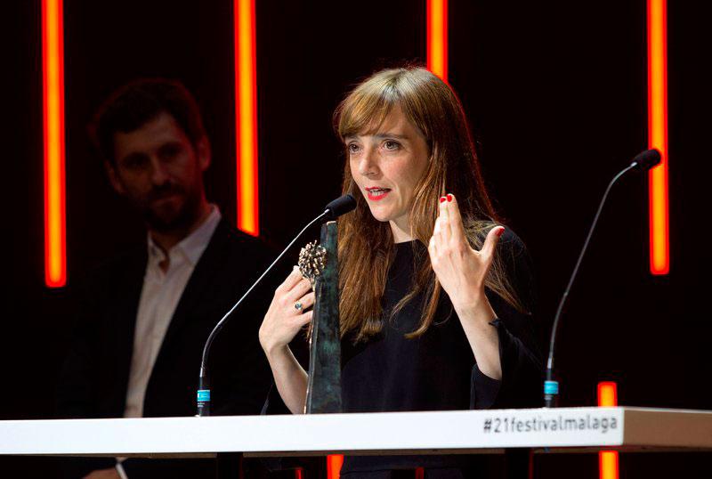 Elena Trapé recoge la Biznaga de Plata a la mejor directora en el Festival de Málaga 2018.