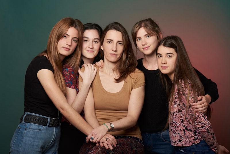 Camila Rabinovich, Ana Waisbein, Jimena Blanco, Laura Grandinetti, Camila Vaccarini.  Fotografía: Alejandra López