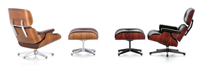 Lounge chair y Ottoman. Charles & Ray Eames © Vitra.