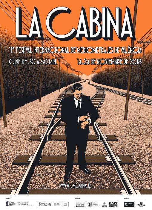 Cartel de la XI edición de La Cabina, diseñado por César Sebastián.