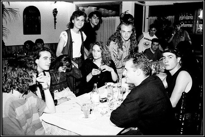 Héroes del Silencio, Zaragoza (1988) Foto Javier Clos.