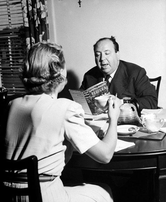 Alfred Hitchcock y Daphne du Maurier.