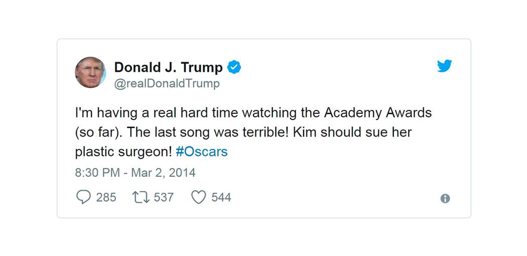 El Trumpómetro de los Oscar