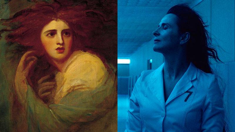 Medea vista por George Rommey (Lady Hamilton), y por Claire Denis (Juliette Binoche).