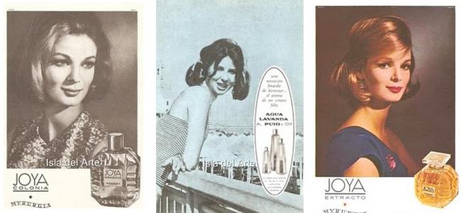 Publicidad de cosmética para mujer