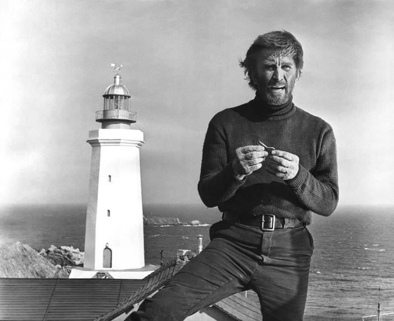 Faro. Kirk Douglas en La luz del fin del mundo (Kevin Billington, 1971).
