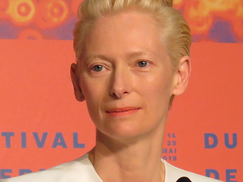 Tilda Swinton en Cannes. Foto ©Eva Peydró.