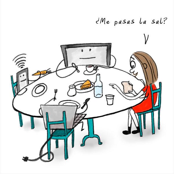 """""""Desayuno en familia"""". Mujeres Perdidas. Sara Strobl"""