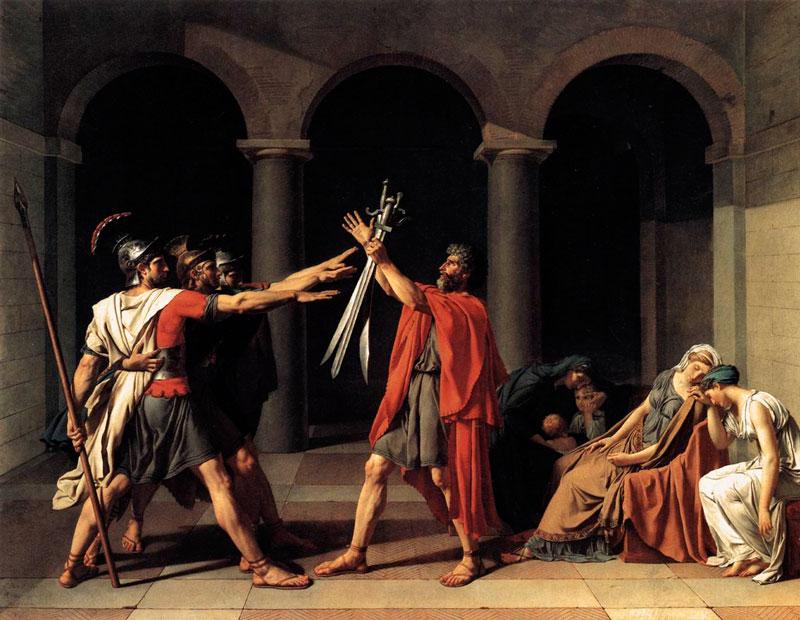 """Historia. """"Juramento de los Horacios"""", Jacques-Louis David"""