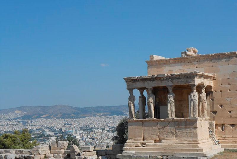 Las Cariátides, Atenas (Grecia). © Fotografía SJLL.