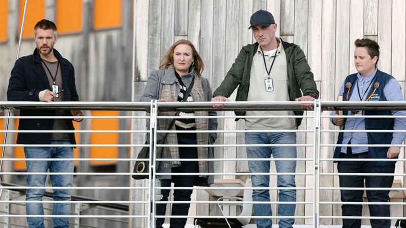 Beforeigners, (Serie HBO Europa, 2019, Anne Bjørnstad y Eilif Skodvin. Director Jens Lien). Al fondo, Museo Astrup Fearnley, arquitecto Renzo Piano.
