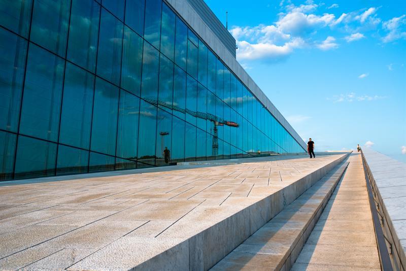 Ópera Oslo, estudio arquitectura Snøhetta. © Fotografía Thomas Johannessen.