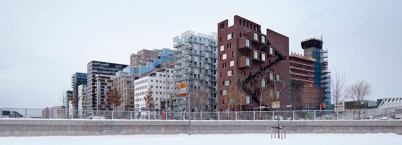 Barcode, Oslo (Noruega), MVRDV de Rotterdam, DARK Architects y A_LAB. © Fotografía Ivan Brodey-Oslo-S-Utvikling.