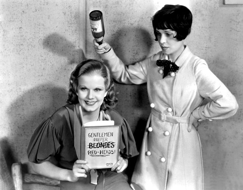 Jean Harlow y Anita Loos. Everett/Rex/Shutterstock. Guiones