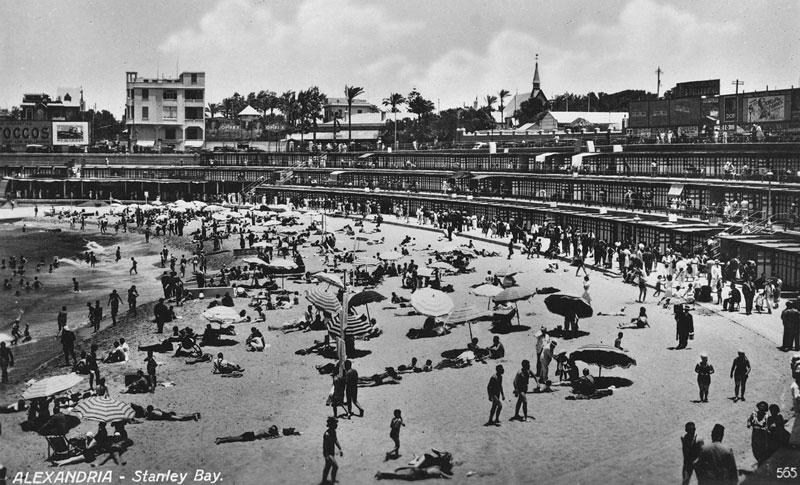 Playa de Stanley, Alejandría, 1942. Durrell