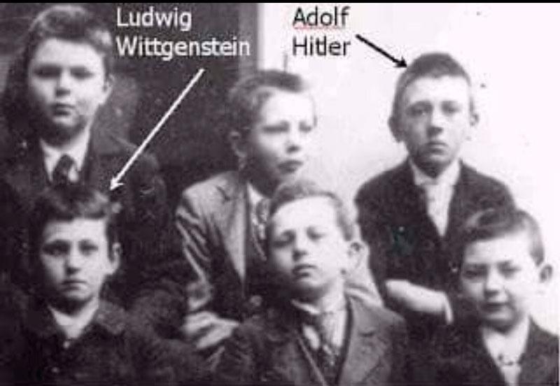Ludwig Wittgenstein y Adolf Hitler. 1917