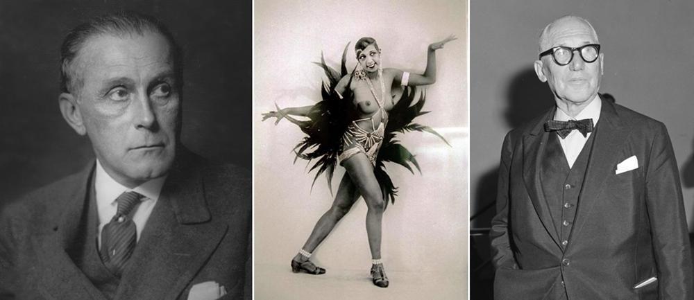 Adolf Loos, Joséphine Baker y Le Corbusier